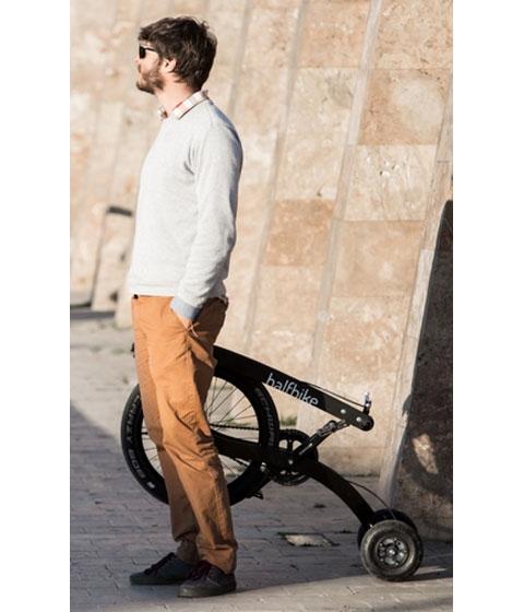 halfbike einrad bike fahrrad farbe blau kaufen. Black Bedroom Furniture Sets. Home Design Ideas
